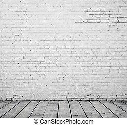 brique blanche, salle