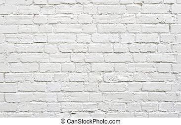 brique, mur blanc