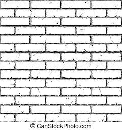 brique, wall., texture., seamless