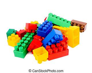 briques, coloré
