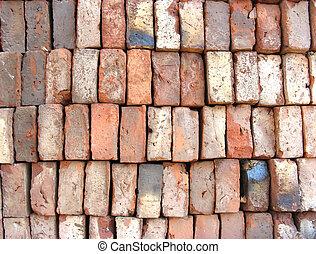 briques, empilé