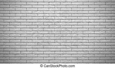 briques, mur, blanc, explosion