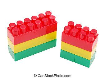 briques, plastique