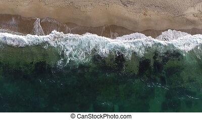 briser, vagues, plage, océan