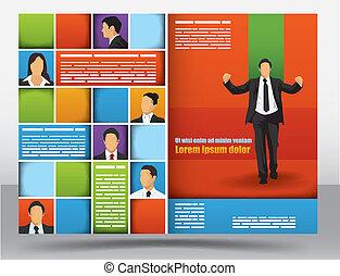 brochure, conception, gabarit