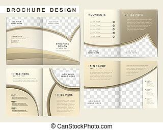 brochure, disposition, vecteur, conception, gabarit