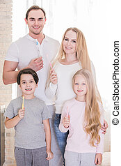 brosses dents famille