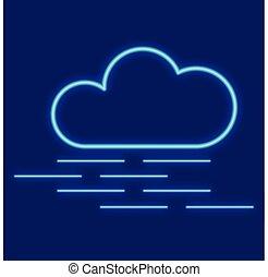 brouillard, weather., nuages