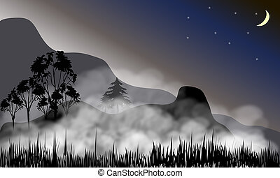 brumeux, paysage