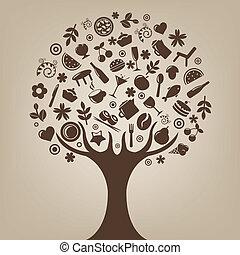 brun, arbre