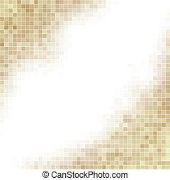 brun, carrée, space., fond, blanc, copie, mosaïque