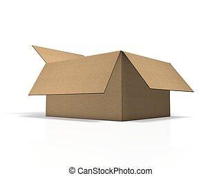 brun, carton, meute