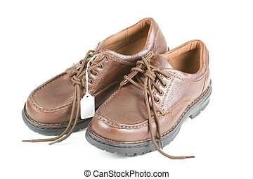 brun, chaussures, business