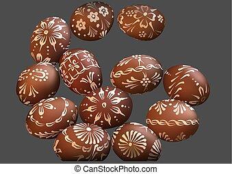brun, oeuf de pâques, collection