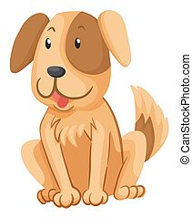 brun, peu, fourrure, chien