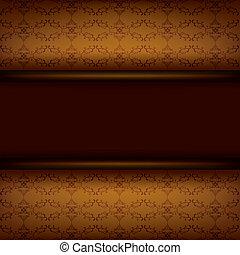 brun, planche, vendange, fond, décoratif