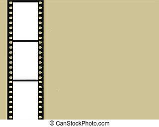 brun, vecteur, appareil photo, illustration, fond, pellicule