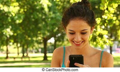 brunette, envoi, texte, magnifique