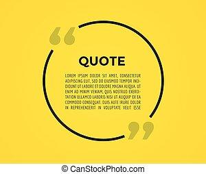 bubble., citation, virgules, élément, vecteur, texte, note, comment., message, stockage, design.