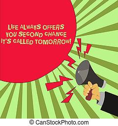 bubble., photo, il, seconde, vide, occasions, écriture, offres, parole, tenue, texte, conceptuel, vous, porte voix, plus, vie, business, projection, hu, chance, tomorrow., main, always, analyse, s, mâle, appelé