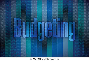 budgétiser, message, conception, illustration