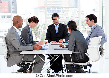 budget, divers, business, disscussing, groupe, plan