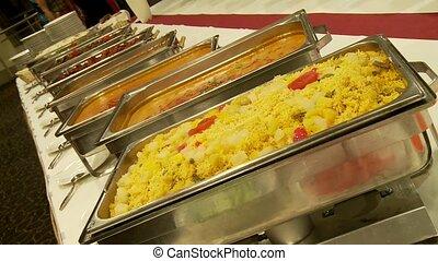 buffet, restaurant