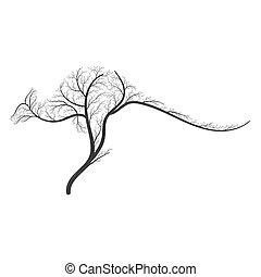 buissons, logos, usage, silhouette, toile, purposes., kangourou, invitations, stylisé, autre, impression, conception, cartes, affiches
