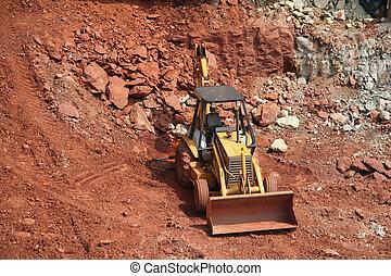 bulldozer, site construction