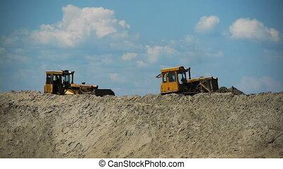 bulldozer, travail
