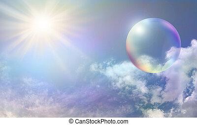 bulle, énergie solaire