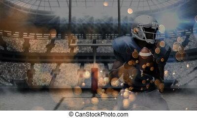 bulle, allumette, football américain, effets