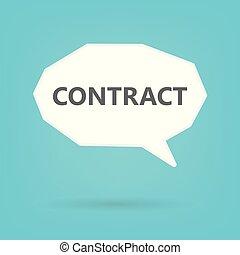 bulle, concept, parole, contrat