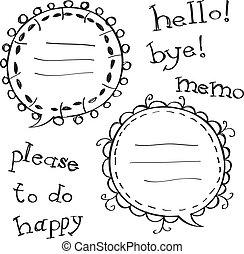 bulle, décoré, parole
