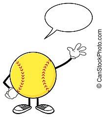 bulle discours, softball