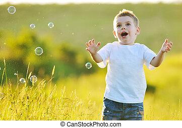 bulle, enfant