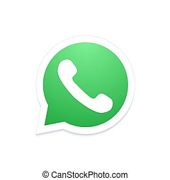 bulle, moderne, téléphonez icône, vecteur, parole