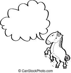 bulle, parole, cheval