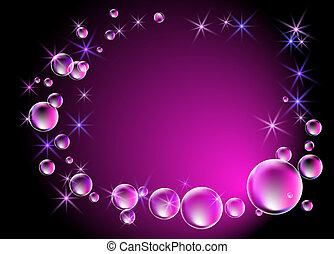 bulles, étoiles