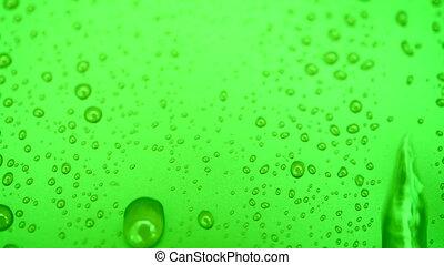 bulles, arrière-plans, eau, goutte