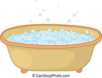 bulles, bain