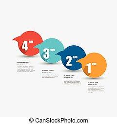 bulles, diagram., parole, coloré