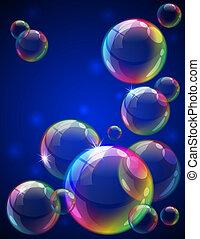 bulles, fond