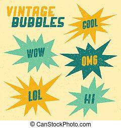 bulles, retro, collection