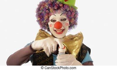 bulles, savon, clown