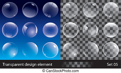 bulles, transparent
