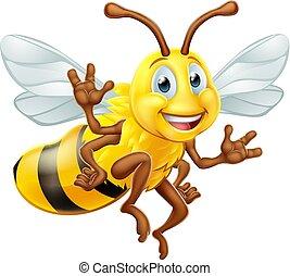 bumble, caractère, dessin animé, abeille