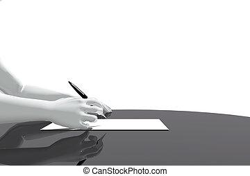 bureau, écriture