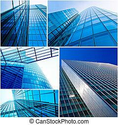 bureau, bâtiments.