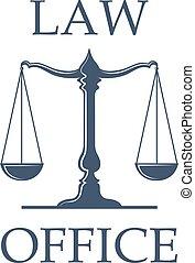 bureau, balances, justice, vecteur, droit & loi, icône